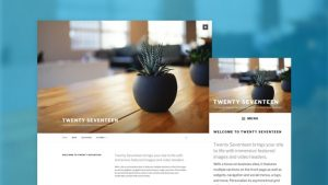 Tema Twenty Seventeen WordPress 4.7