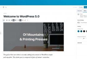 Lançamento WordPress 5.0 Bebo