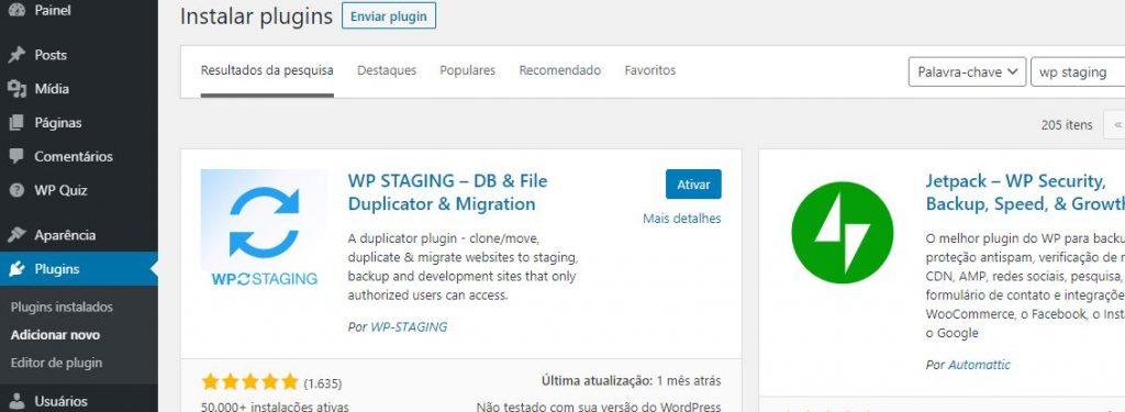 Criando Stage de Sites WordPress Com o WP STAGING – DB & File Duplicator & Migration
