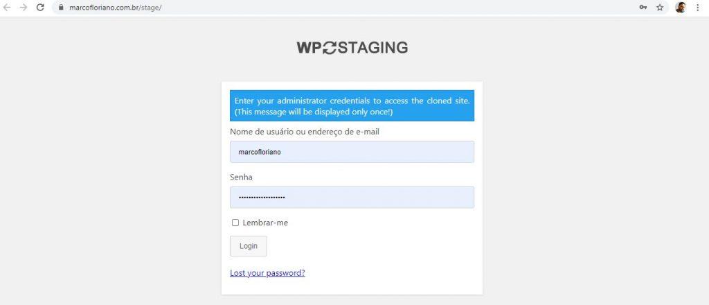 Meu site copiado solicitando minhas credenciais salvas do site anterior