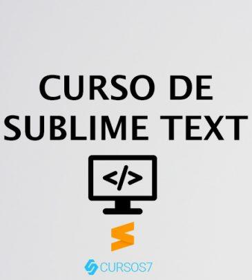 Curso de Sublime Text